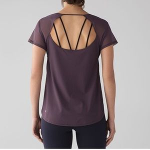Lululemon Anew Short Sleeve Tee Black Currant